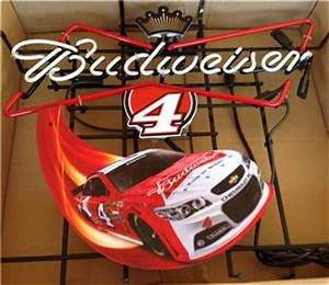 Kevin Harvick 4 Budweiser NEON Racing Sign ficial Very