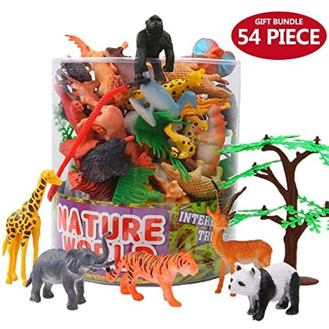 animals toys jungle wild animal zoo figure mini box realistic piece learning gift toy farm figures forest playset boys toddlers