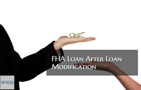 Modification Mortgage Loan by Qualifying For Fha Mortgage After Loan Modification