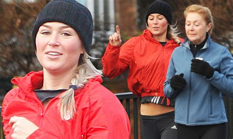 Alex Gerrard pounds the pavement with her mother in ...