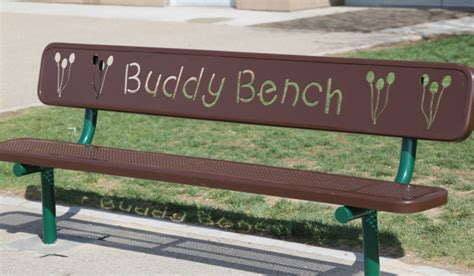 Buddy Bench by Playground Bench Helps Na Make Friends