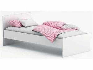 Lit Blanc 1 Personne : lit 90x190 cm switch coloris blanc vente de lit enfant conforama ~ Teatrodelosmanantiales.com Idées de Décoration