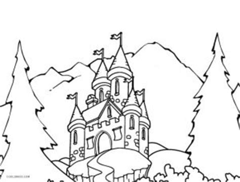 printable castle coloring pages  kids coolbkids