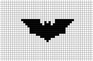 batman logo pixel art brik With minecraft pixel art templates batman