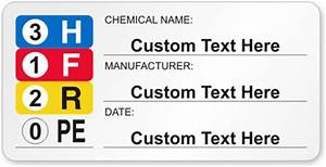 sds labels preprinted and custom msds With hmis labels printable