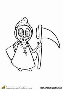 Dessin D Halloween Facile : coloriage de la faucheuse monstre coloriages et ~ Dallasstarsshop.com Idées de Décoration