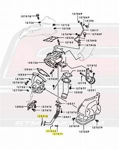 Oem Mitsubishi 4g63 Oil Return Line Bolt  U0026 Gasket Kit