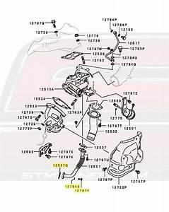Oem Mitsubishi 4g63 Oil Return Line Bolt  U0026 Gasket Kit