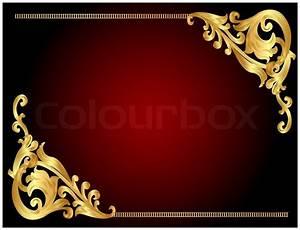 Illustration frame background with golden angular pattern