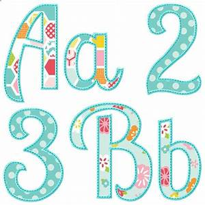 Summer applique alphabet appliques pinterest summer for Applique letters designs