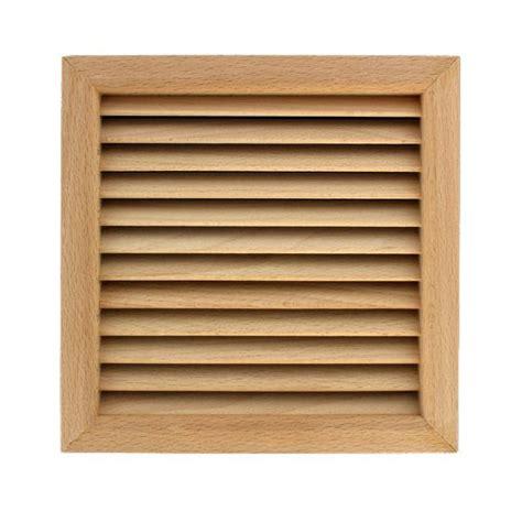 grille de ventilation grille ventilation carr 233 e bois 224 encastrer 172x172