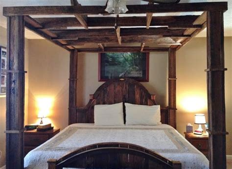 This Canopy Bed Was A Great Project To Build Using Barn