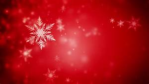 Snowflakes Are Moving Across A Red Background Stock ...