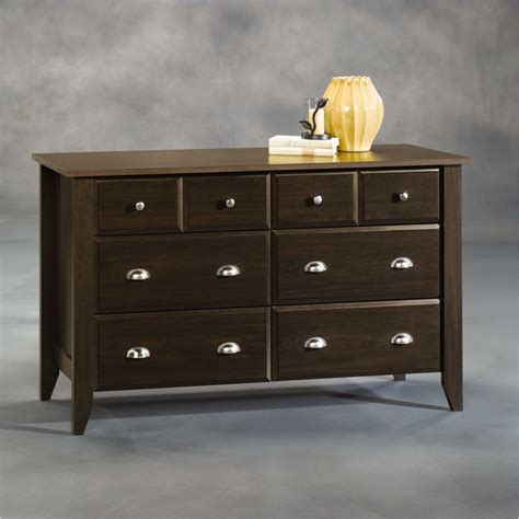 sauder shoal creek dresser in jamocha wood sauder shoal creek dresser jamocha wood 409937