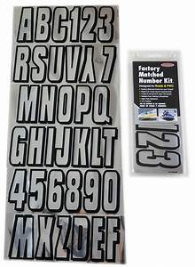 chrome black boat lettering registration numbers 320 With chrome boat letters