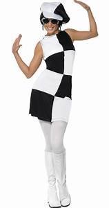 Kostüm Für 80er Jahre Mottoparty : kost m 80er jahre disco f r damen schwarz weiss g nstige faschings kost me bei karneval megastore ~ Frokenaadalensverden.com Haus und Dekorationen