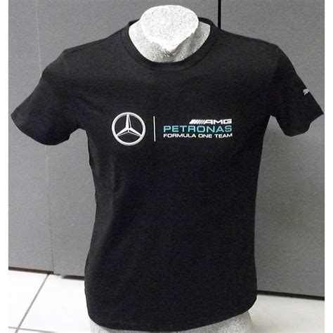 """Find the right mercedes shirt for your team pride from cmc celebrating lewis hamilton securing a historical 7 f1 drivers' championships. Mercedes AMG F1 """"Logo T-Shirt"""" in Dry Cell quality - FormulaSports"""