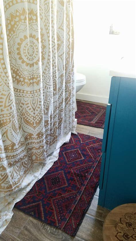 Designer Bathroom Rugs by Vintage Rug To Bath Rugs A Designer At Home