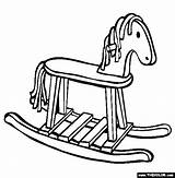 Coloring Rocking Horse Toys Pages Thecolor sketch template