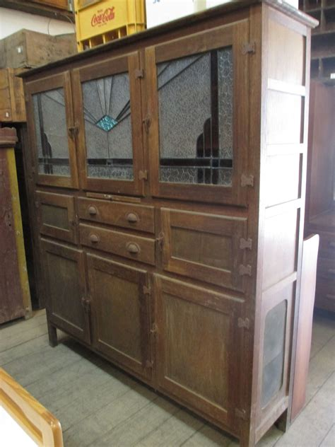 Antique Kitchen Cupboard by Antique Leadlight Safe Food Storage Kitchen Cabinet