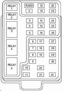 Ford F-150  1997 - 2004  - Fuse Box Diagram