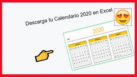 foto de Calendario 2020 en excel mas agenda diaria YouTube