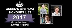 Queen's Birthday Honours 2017 - QUB
