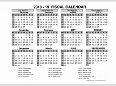 2018 US Fiscal Year Template Free Printable Templates