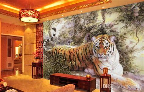 Chinese Painting Wall Mural Tiger Photo Wallpaper Custom