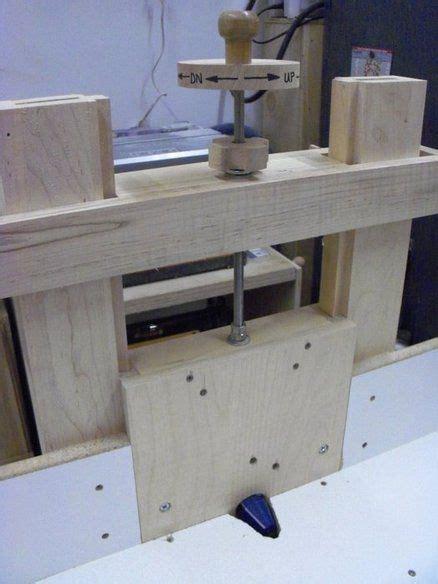 shop built horizontal router table   router table