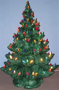 vintage 23 quot large green ceramic christmas tree lighted 4 pc atlantic mold 1970s ebay