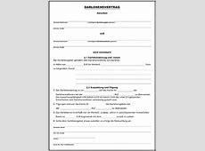 Darlehensvertrag für Privatpersonen III Formulare gratis