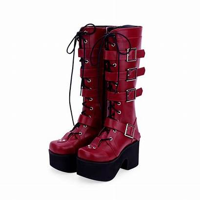 Boots Punk Imprint Lolita Angelic Heel Toe