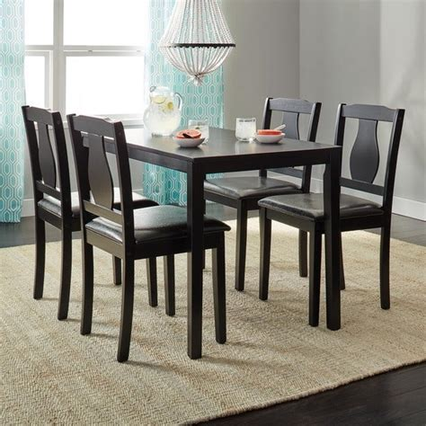 shop simple living black  piece kaylee dining set