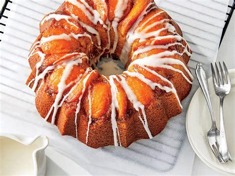peach bourbon upside  bundt cake recipe southern living