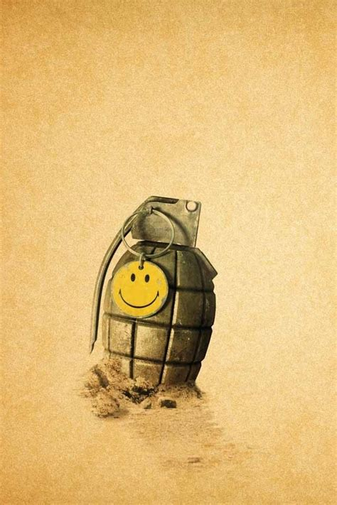 grenade   smiley face sticker   iphone