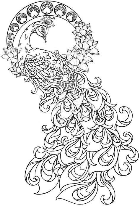 Paisley Peacock Coloring Pages for Adults Printable | Henna Inspriation | Pinterest | Coloring