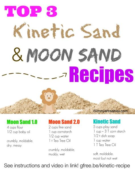 colored kinetic sand top 3 recipes for kinetic sand and moon sand link