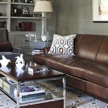 Brown Sofa And Rug In Sand Sectional Sofa Traditional Den Library Office
