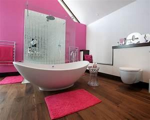 Pretty pink bathroom designs for Interior design pink bathrooms
