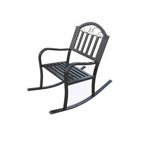 lakeland mills patio rocking chair cf1125 the home depot