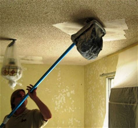 Scraping Popcorn Ceiling by Popcorn Acoustic Ceiling Texture Removal