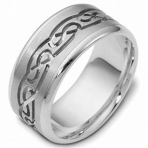 47541pp platinum celtic carved wedding ring With platinum celtic wedding rings