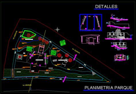 park plan details  autocad cad   kb