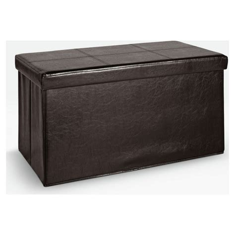 Where To Buy Ottoman - buy home large leather effect ottoman stitching detail