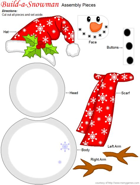bonecos de neve com moldes snowman games free printable