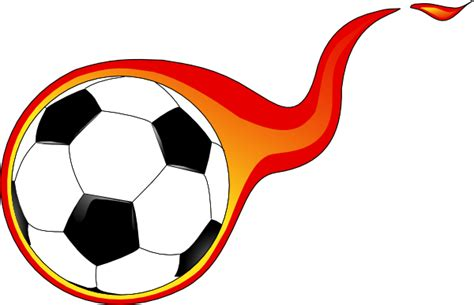 Flaming Soccer Ball Clip Art At Clker.com