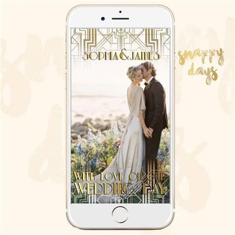 wedding snapchat filter snapchat geofilter gatsby deco 1920 s wedding filter vintage snapchat 2621746 weddbook