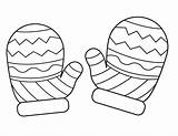Mittens Coloring Mitten Pages Printable Template Winter Colouring Drawing Sheets Pattern Sheet Hat Snowman Christmas Crafts Craft Preschool Clipart Activities sketch template