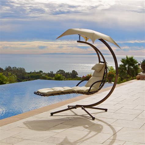 chaise suspendue jardin chair contemporary outdoor chaise lounges salt